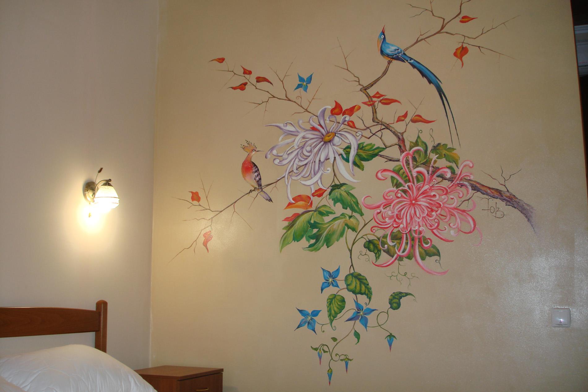 Роспись стен пошаговые фото